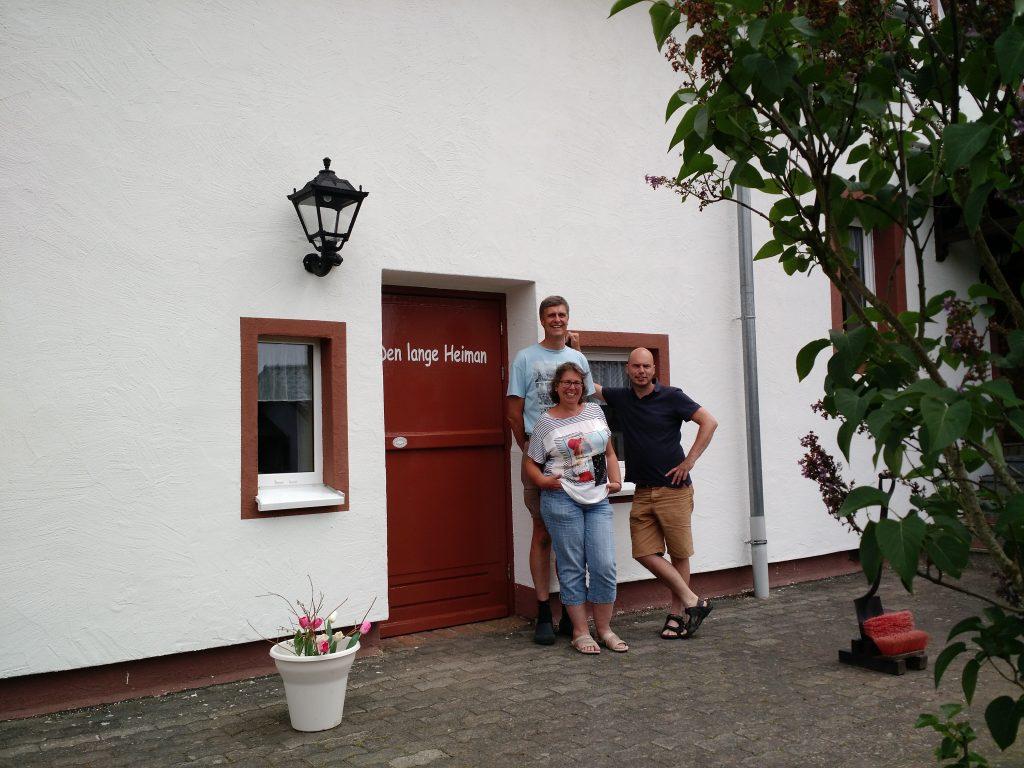 Samen met Albert en Angelique Heijmans van Den lange Heiman