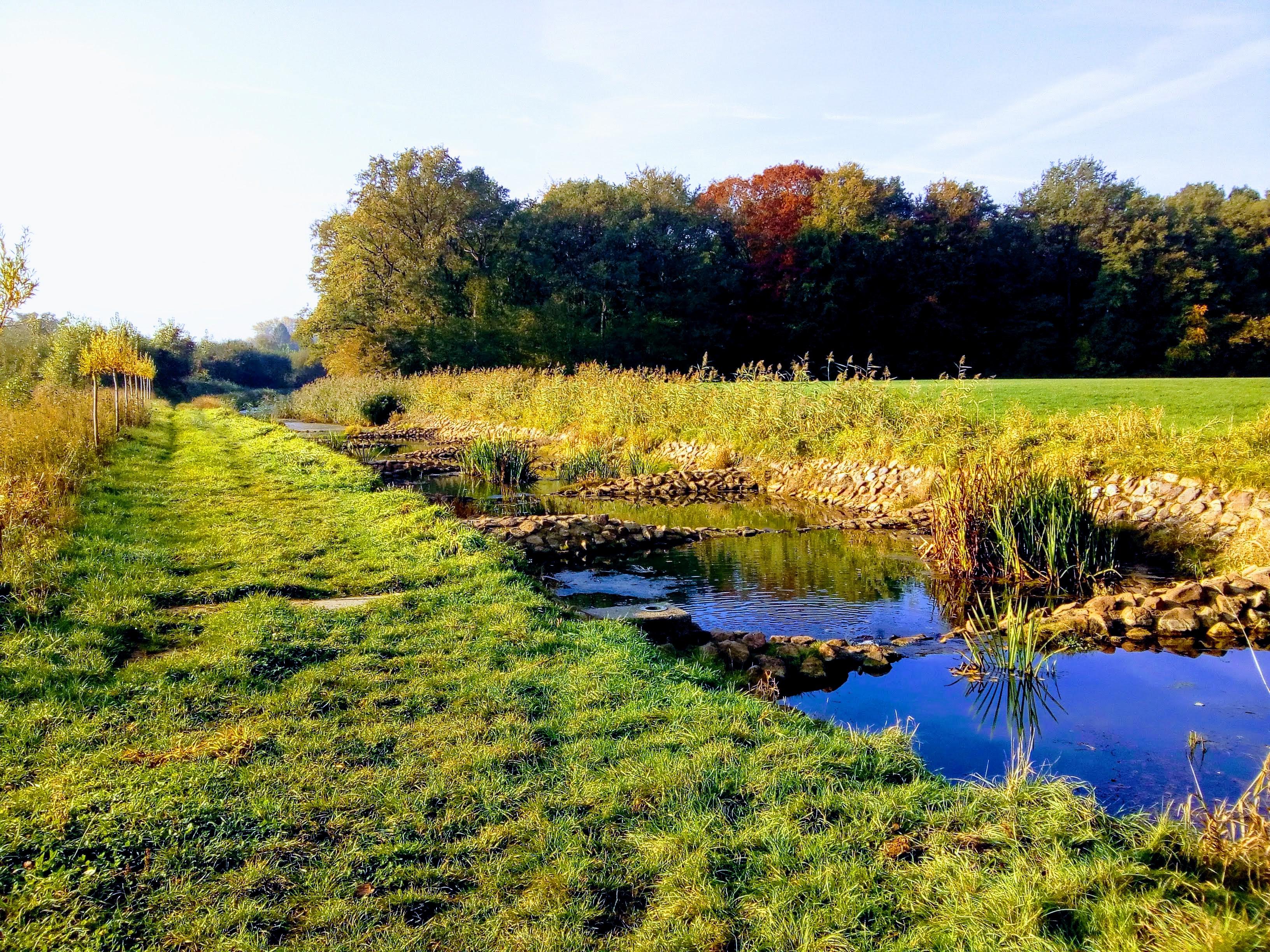 Je komt veel water tegen tijdens de Ockhorstroute, Veengoot & Baaksche Beek