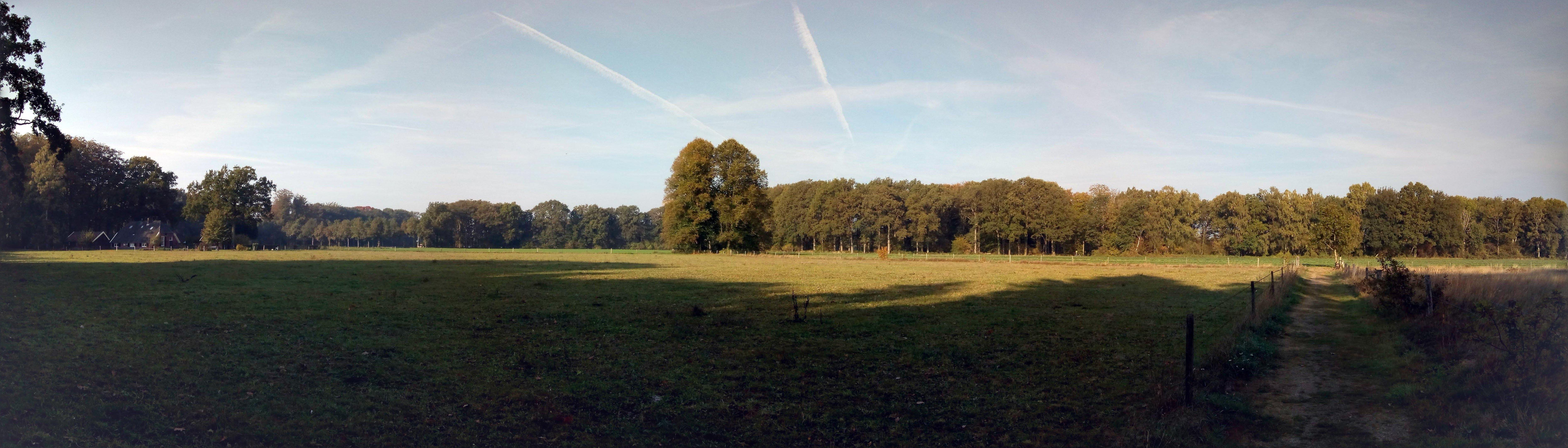 Panoramazicht tijdens de Ockhorst wandeling